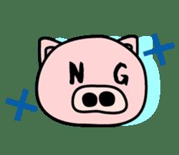 Pig of the words of Kobe sticker #851277