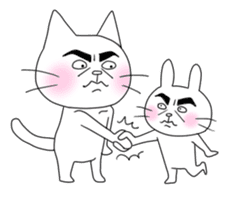 Dandy cat sticker #852265