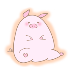 Plump pig stickers