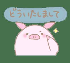 Plump pig stickers sticker #853280