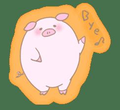 Plump pig stickers sticker #853281