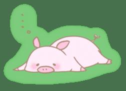 Plump pig stickers sticker #853284