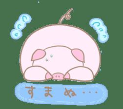Plump pig stickers sticker #853286