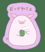 Plump pig stickers sticker #853287