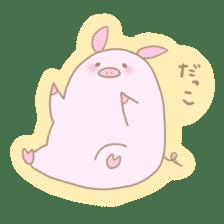 Plump pig stickers sticker #853288