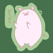 Plump pig stickers sticker #853290