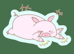 Plump pig stickers sticker #853292