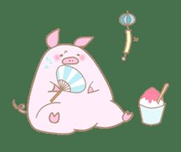 Plump pig stickers sticker #853293