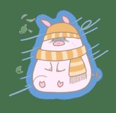 Plump pig stickers sticker #853294