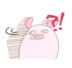 Plump pig stickers sticker #853295