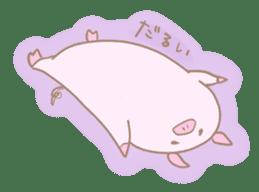 Plump pig stickers sticker #853296