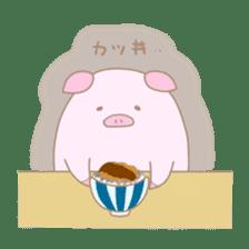 Plump pig stickers sticker #853304