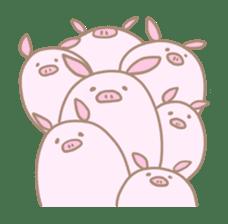 Plump pig stickers sticker #853305