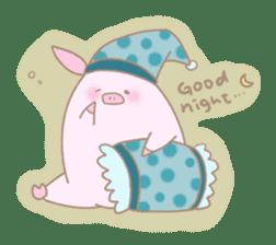 Plump pig stickers sticker #853307