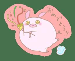 Plump pig stickers sticker #853308