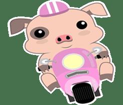 Kiki, the cute chubby little pink piggy sticker #853440