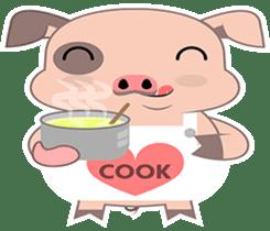 Kiki, the cute chubby little pink piggy sticker #853443