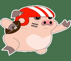 Kiki, the cute chubby little pink piggy sticker #853444
