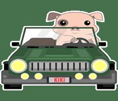 Kiki, the cute chubby little pink piggy sticker #853449