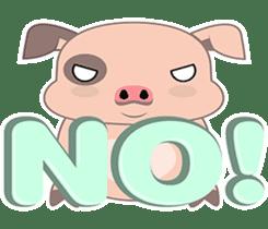 Kiki, the cute chubby little pink piggy sticker #853454