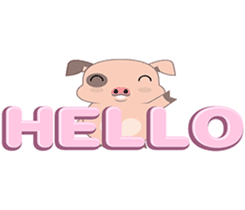 Kiki, the cute chubby little pink piggy sticker #853457