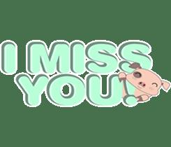 Kiki, the cute chubby little pink piggy sticker #853459