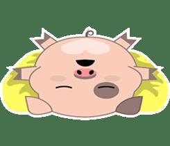 Kiki, the cute chubby little pink piggy sticker #853465