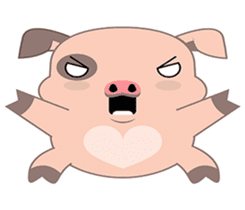Kiki, the cute chubby little pink piggy sticker #853467