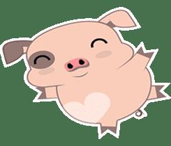 Kiki, the cute chubby little pink piggy sticker #853469