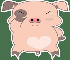 Kiki, the cute chubby little pink piggy sticker #853470