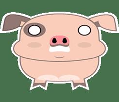 Kiki, the cute chubby little pink piggy sticker #853471