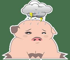 Kiki, the cute chubby little pink piggy sticker #853473