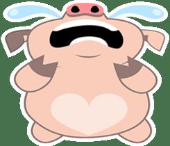 Kiki, the cute chubby little pink piggy sticker #853474