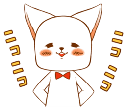 The sticker of a cat sticker #854607