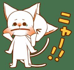 The sticker of a cat sticker #854611