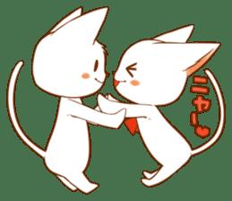 The sticker of a cat sticker #854613