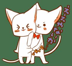 The sticker of a cat sticker #854615