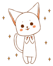 The sticker of a cat sticker #854623