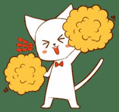 The sticker of a cat sticker #854626