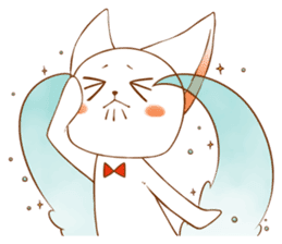 The sticker of a cat sticker #854634