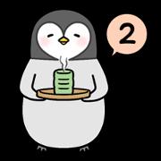 สติ๊กเกอร์ไลน์ Emperor penguin Hachan the second