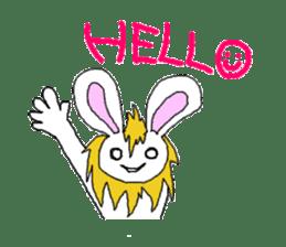 maned rabbit sticker #855039