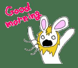 maned rabbit sticker #855040