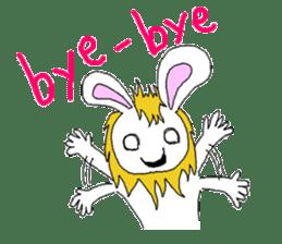 maned rabbit sticker #855041