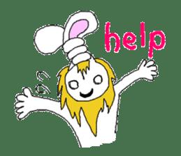 maned rabbit sticker #855043
