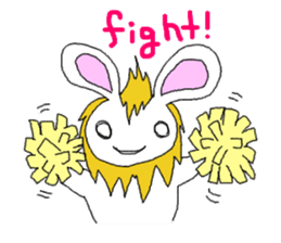 maned rabbit sticker #855044