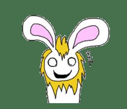 maned rabbit sticker #855045