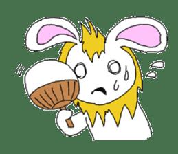 maned rabbit sticker #855057
