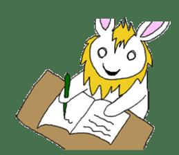 maned rabbit sticker #855062