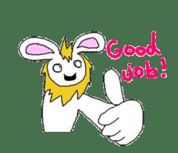 maned rabbit sticker #855066